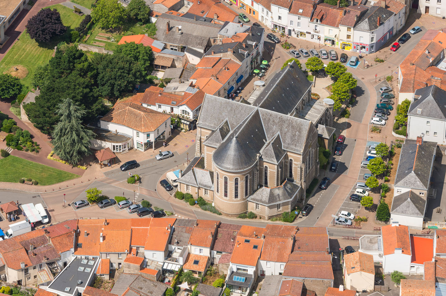 Photo aerienne de Saint Julien de Concelles,commune ligerienne de Loire-Atlantique
